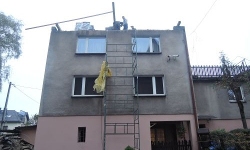 Remont dachu na probostwie