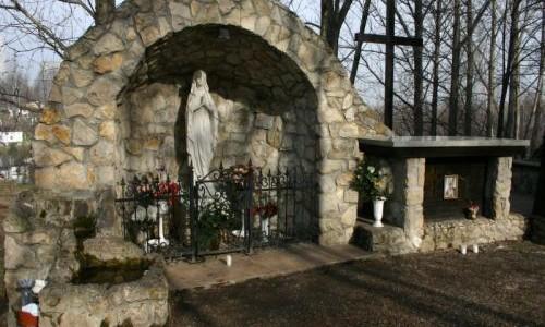 Kościół, Grota Maryjna, Probostwo