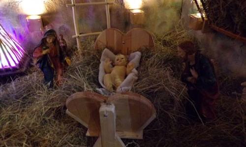 Stajenka i dekoracje bożonarodzeniowe