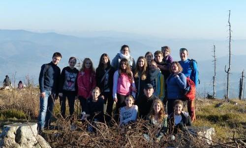 Wycieczka młodzieży oazowej na Baranią Górę